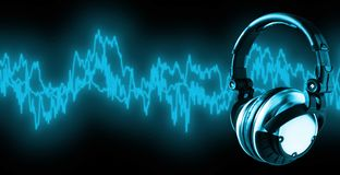 Escuche la música (camino de +clipping, XXL) Foto de archivo libre de regalías