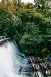 Escudero della villa del ristorante della cascata, San Pablo, Filippine immagine stock libera da diritti