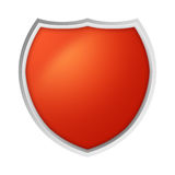 Escudo aislado naranja Ilustración del Vector