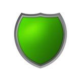 Escudo aislado verde Stock de ilustración