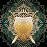 Escudo ambarino Imágenes de archivo libres de regalías