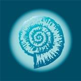 Escudo azul ilustração stock