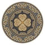 Escudo céltico, adornado con un modelo europeo antiguo libre illustration