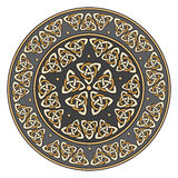 Escudo céltico, adornado con un modelo europeo antiguo ilustración del vector