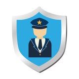 Escudo con el icono aislado símbolo de la seguridad Imágenes de archivo libres de regalías
