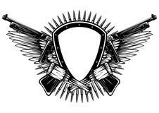 Escudo con las ametralladoras y la granada cruzadas libre illustration