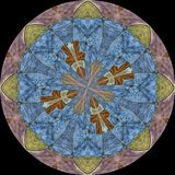 Escudo con símbolo floral Imágenes de archivo libres de regalías