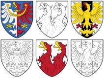 Escudo de armas - águilas Fotos de archivo libres de regalías