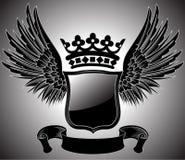 Escudo de armas con alas Imagenes de archivo