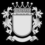 Escudo de armas con cubrir Foto de archivo libre de regalías