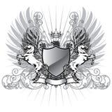 Escudo de armas con el caballo Fotos de archivo libres de regalías