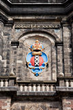 Escudo de armas de Amsterdam en la torre de Westerkerk Imagen de archivo