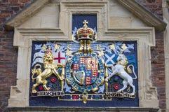 Escudo de armas de Charles I en Manor de rey en York Imagen de archivo