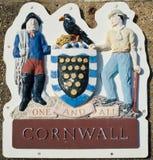 Escudo de armas de Cornualles Imagen de archivo libre de regalías