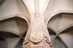 Escudo de armas de Corvin Foto de archivo libre de regalías