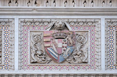 Escudo de armas de familias prominentes, Florence Cathedral imagenes de archivo