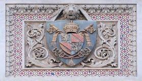 Escudo de armas de familias prominentes, Florence Cathedral fotografía de archivo libre de regalías