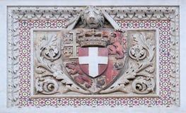 Escudo de armas de familias prominentes, Florence Cathedral imágenes de archivo libres de regalías