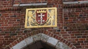 Escudo de armas de la ciudad de Gdansk Imagenes de archivo