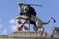 Escudo de armas de la ciudad de Leiden, Países Bajos Imagen de archivo libre de regalías