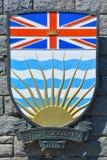 Escudo de armas de la Columbia Británica Imagen de archivo libre de regalías