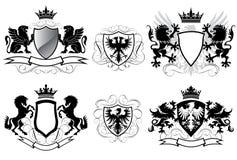 Escudo de armas de la heráldica Fotografía de archivo libre de regalías