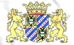 Escudo de armas de la provincia de Groninga, Países Bajos Imágenes de archivo libres de regalías