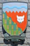 Escudo de armas de los territorios del noroeste Fotos de archivo libres de regalías