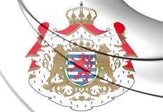 Escudo de armas de Luxemburgo Imágenes de archivo libres de regalías