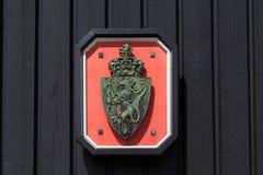 Escudo de armas de Noruega Imagen de archivo