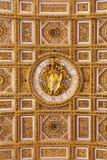 Escudo de armas de papa Pío VI Imágenes de archivo libres de regalías