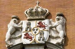 Escudo de armas de piedra de España Imagen de archivo libre de regalías