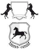 Escudo de armas del caballo Imagen de archivo libre de regalías