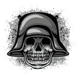 escudo de armas del cráneo del grunge Fotos de archivo
