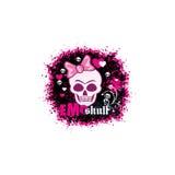 escudo de armas del cráneo del grunge Fotografía de archivo