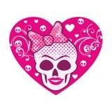 escudo de armas del cráneo del grunge Imagen de archivo libre de regalías