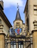 Escudo de armas del duque magnífico de Luxemburgo Imagen de archivo libre de regalías