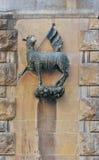 Escudo de armas del gremio de las lanas - della Lana, Florencia, Italia de Arte Imagenes de archivo