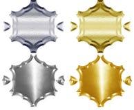 Escudo de armas del metal Fotos de archivo libres de regalías
