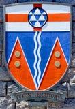 Escudo de armas del territorio del Yukón Imagen de archivo