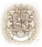 Escudo de armas dibujado a mano Foto de archivo libre de regalías