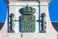 Escudo de armas español España imagen de archivo libre de regalías