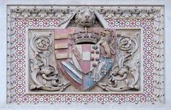 Escudo de armas de familias prominentes, Florence Cathedral foto de archivo