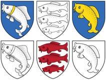 Escudo de armas - fisches Fotografía de archivo