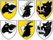 Escudo de armas - ganado Imagen de archivo