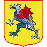 Escudo de armas heráldico del grifo Fotografía de archivo libre de regalías