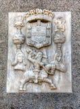 Escudo de armas de la ciudad de Evora Imagen de archivo