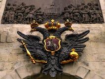 Escudo de armas de la Federación Rusa Foto de archivo