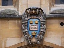 Escudo de armas de la Universidad de Oxford Fotografía de archivo