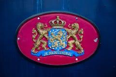 Escudo de armas de los Países Bajos imagenes de archivo